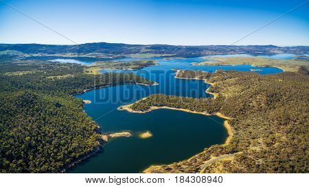 Aerial Panorama Of Lake Jindabyne, New South Wales, Australia