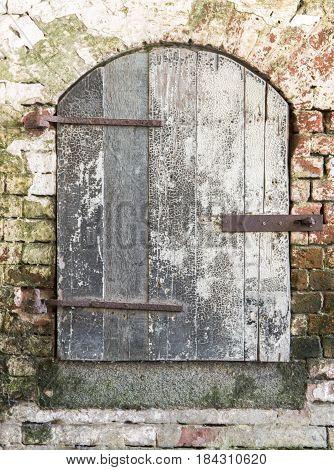Alcatraz Rustic Vintage Door. Alcatraz Island, Golden Gate National Recreation Area, San Francisco, California, USA