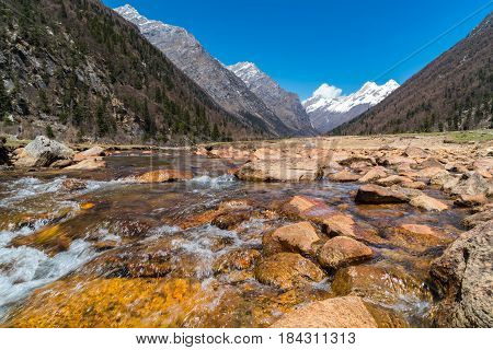 Late winter landscape of Sichuan in China