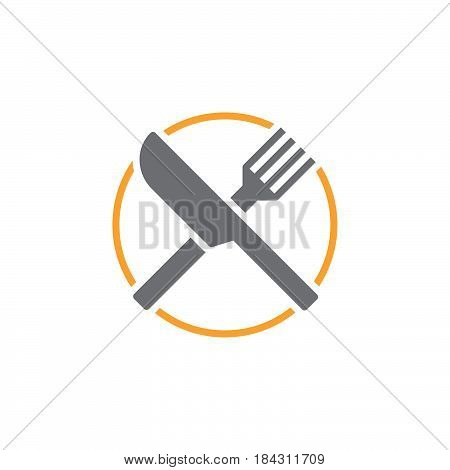 Fork And Knife Icon Vector, Dishware Solid Logo, Pictogram Of A Restaurant  Isolated On White, Color