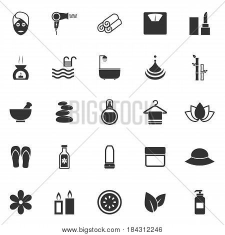 Beauty icons on white background, stock vector