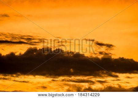 The Heaven Of Landscape With Beautiful Colorful Cloud