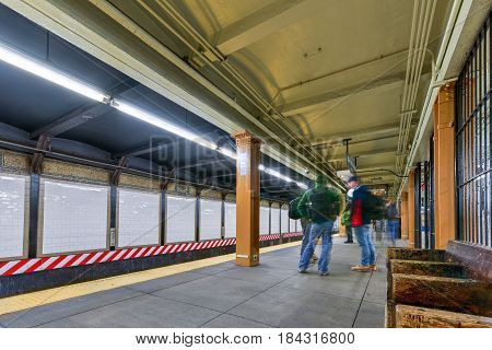 City Hall Station Platform - New York City