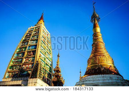 Shwedagon Paya In Yangon, Myanmar