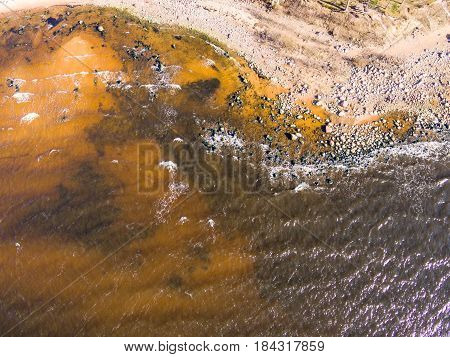 Drone Image. Aerial View Of Baltic Beach Area