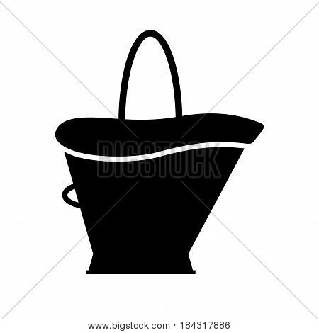 Coal scuttle ( shade picture ) on white background