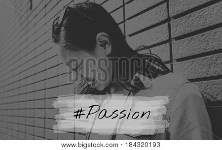 Woman Lifestyle Freedom Photo with Aspiration Quote