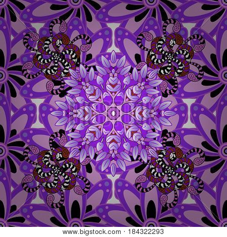 Mandala colored background. East Islam. Vector Mandala pattern on colorful background. Arabic Vintage decorative ornament.