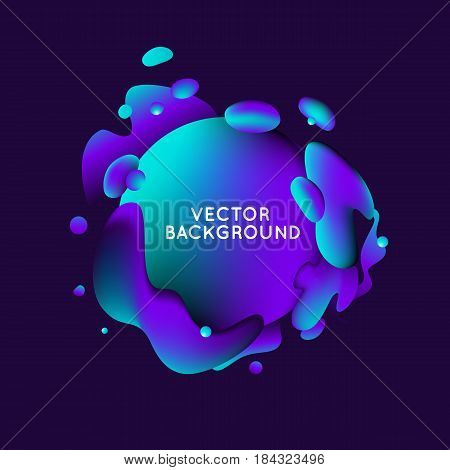 Vector Design Template With Abstract Fluid Shapes