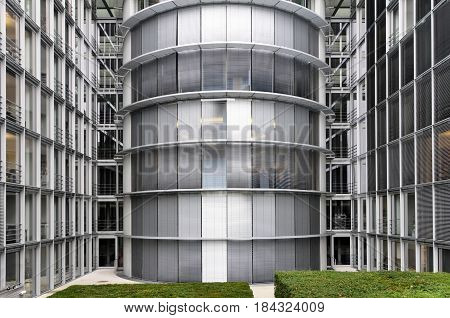 Berlin, Germany - April 12, 2017: Paul Lobe house exterior in Berlin.