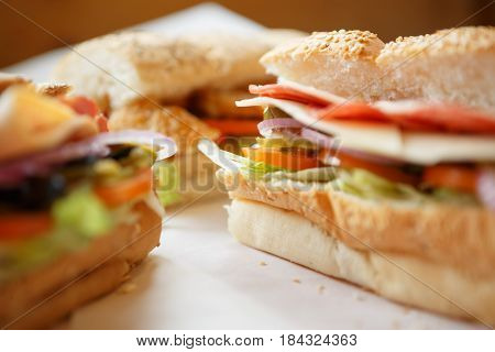Fast Food Restaurant Sandwiches & Salad Menu