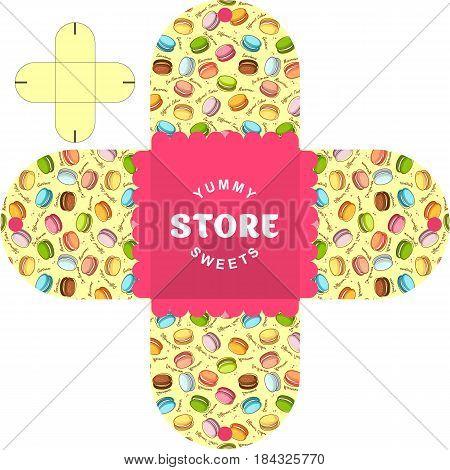 Vector simple packaging template for sweetshop bakery