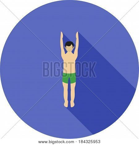 Mountain, upward, pose icon vector image. Can also be used for yoga poses. Suitable for mobile apps, web apps and print media.