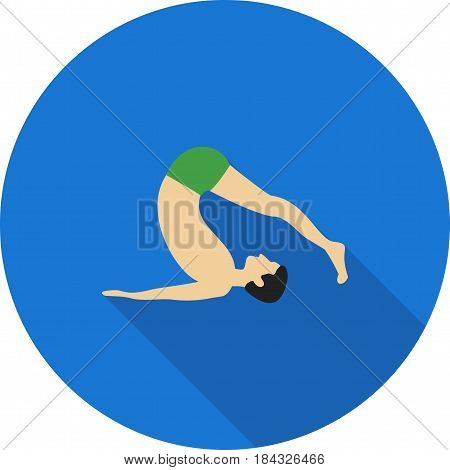 Pose, yoga, plow icon vector image. Can also be used for yoga poses. Suitable for mobile apps, web apps and print media.