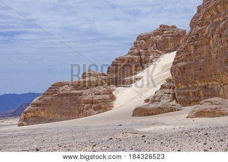 Mountain in the Sinai desert. Egypt landscape