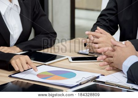 An executive board meeting in a company