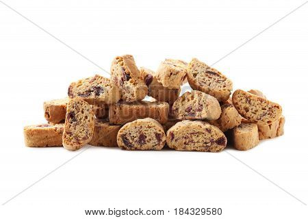 Cantuccini Cookies Isolated On A White Background