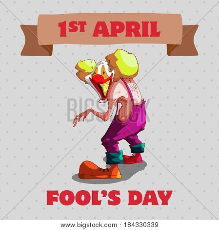 April Fool's Day concept. Vector Illustration design