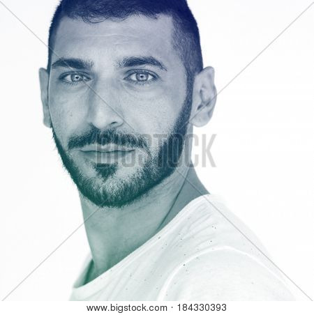 Middle eastern man studio photo shoot