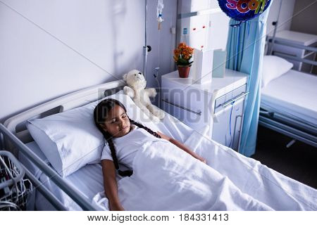 Patient resting in ward at hospital