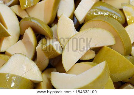 close up pickled mango preserve fruit in Thailand