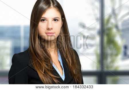 Smiling young female manager