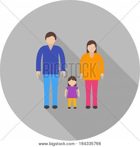 Thanksgiving, family, parents icon vector image. Can also be used for thanksgiving. Suitable for use on web apps, mobile apps and print media.