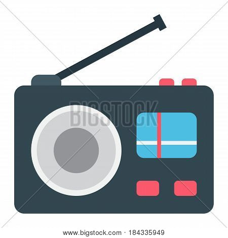 Radio flat icon, communication and website button, vector graphics, a colorful solid pattern on a white background, eps 10.