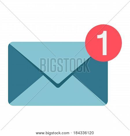 New message flat icon, email and website button, vector graphics, a colorful solid pattern on a white background, eps 10.