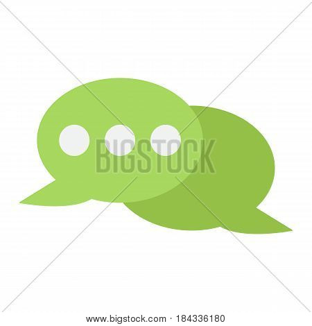 Speech bubble flat con, chat and website button, vector graphics, a colorful solid pattern on a white background, eps 10.
