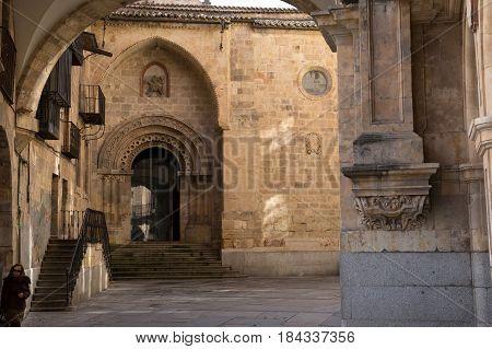 Plaza Mayor passage and entrance, Salamanca, Spain