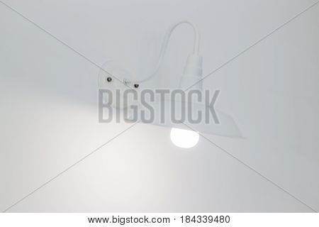 Interior Room With White Lamps stock photo
