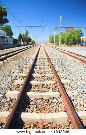 Train Tracks And Station
