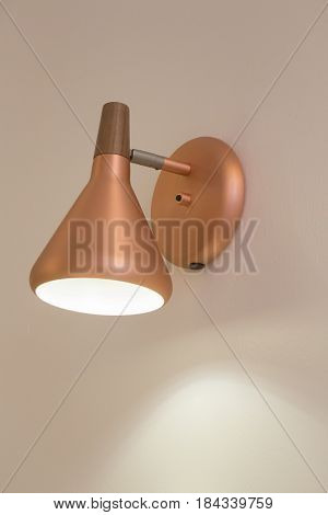 Metal Retro Luxury Light Lamp stock photo