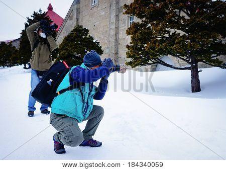 Winter Scenery In Yoichi, Hokkaido, Japan
