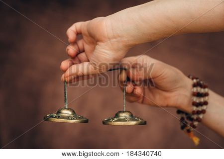 Tibetan Bells In Sound Therapy, Sound Therapy, Color Image, Toned Image