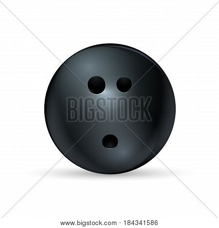 Bowling ball isolated on white background. Vector illustration. Eps 10.