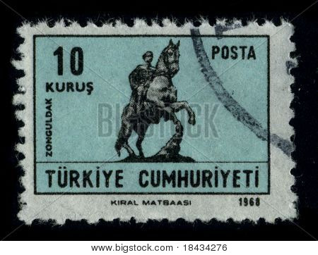 TURKEY - CIRCA 1968: A stamp printed in TURKEY shows image of the dedicated to the Zonguldak is a city and the capital of Zonguldak Province in the Black Sea region of Turkey, circa 1968.