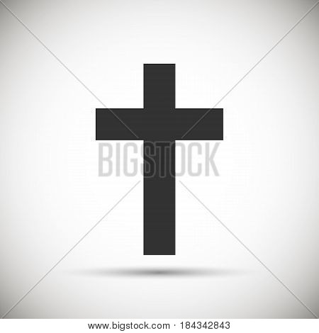 isolated cristian cross icon. isolated on background. Vector illustration. Eps 10.