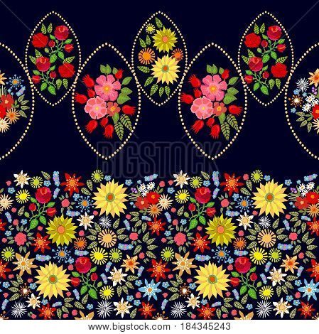 Vintage textile collection.  1950s and 1960s motifs.