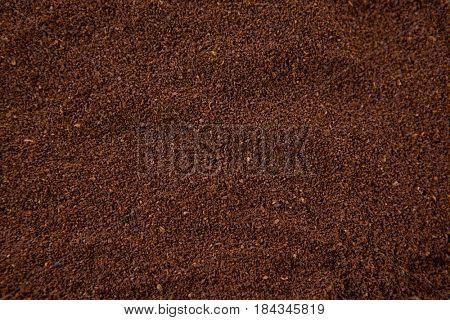 Full frame of coffee powder