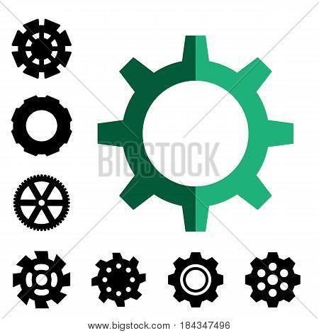 Gear Or Cog Icon  Illustration