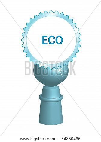Icon with ecological motif and place for your text
