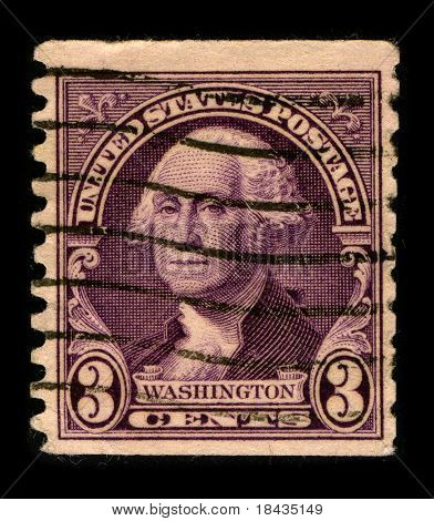 USA - CIRCA 1930: A stamp printed in USA shows Portrait President George Washington, circa 1930.