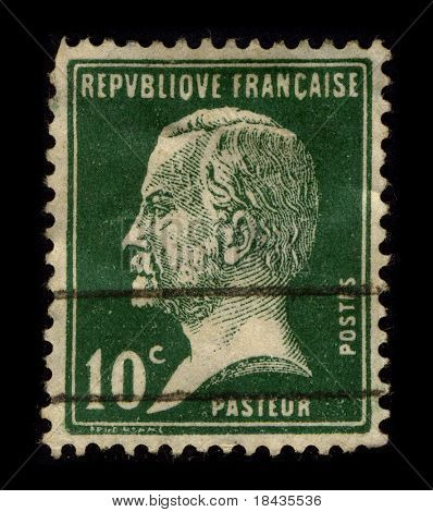 FRANCE-CIRCA 1940:A stamp printed in FRANCE shows image of Louis Pasteur (December 27, 1822 - September 28, 1895) was a French chemist and microbiologist born in Dole, circa 1940.