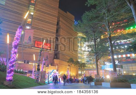KAOHSIUNG TAIWAN - DECEMBER 14, 2016: Unidentified people visit Dream Mall. Dream Mall is the largest shopping mall in Taiwan and the largest in East Asia.