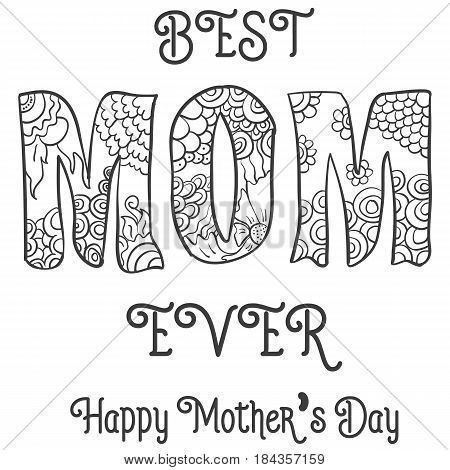Hand draw mother day vector art collection stock