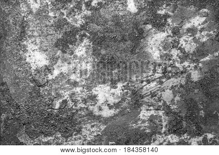 Rusty metal texture, rusty metal background for design. Rusty metal is caused by moisture in the air. Black and white.