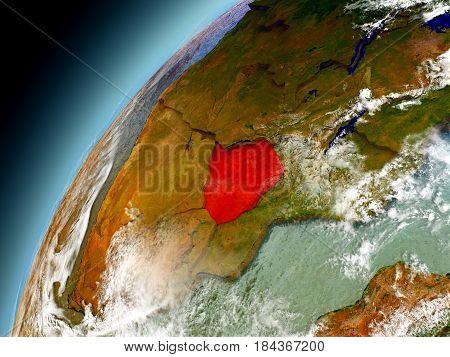 Zimbabwe From Orbit Of Model Earth