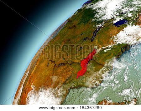 Malawi From Orbit Of Model Earth
